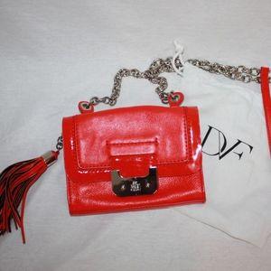 Diane Von Furstenberg DVF Mini Harper Bag in Red
